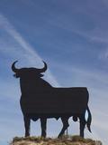 Famous Bull Symbols of the Bodegas Osborne, Puerto De Santa Maria, Spain Photographic Print by Walter Bibikow