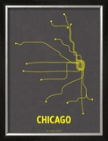 Chicago Poster by  Line Posters