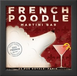 French Poodle Martini Prints by Stephen Fowler
