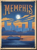 Memphis, Tennessee Stretched Canvas Print by  Anderson Design Group