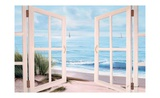 Sandpiper Beach Door Poster par Diane Romanello