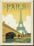 Paris France Classique Stretched Canvas Print by  Anderson Design Group