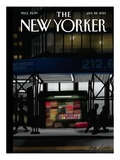 The New Yorker Cover - January 28, 2013 Premium Giclee Print by Jorge Colombo