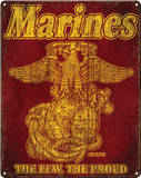 USMC Retro Steel Sign Wall Sign