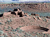 Native American Ruins at Wupatki National Monument, Arizona, USA Photographie par Luc Novovitch