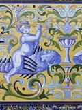 Fabrica De Hielo Tile, Sanlucar De Barrameda, Spain Photographic Print by Walter Bibikow