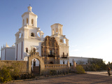 Mission San Xavier Del Bac, Arizona, USA Photographic Print by Luc Novovitch