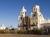 Mission San Xavier Del Bac, Arizona, USA Photographie par Luc Novovitch