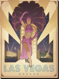 Las Vegas Nevada Stretched Canvas Print by  Anderson Design Group