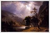 Half Dome, Yosemite Valley Print by Albert Bierstadt