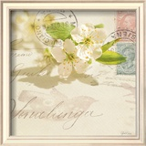 Vintage Letter and Apple Blossoms Posters by Deborah Schenck