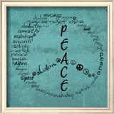 Peace Sign Print by Anna Quach