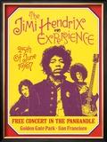 Jimi Hendrix, Free Concert in San Francisco, 1967 Prints by Dennis Loren