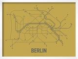 Berlin (Ochre & Gunmetal Gray) Posters by  Line Posters