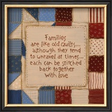 Family Quilts Print by Karen Tribett