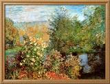 Stiller Winkel im Garten von Montgeron Art by Claude Monet