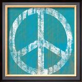 Blue Peace Prints by Louise Carey