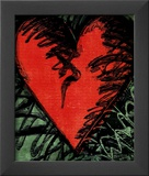 Rancho Woodcut Heart Print by Jim Dine