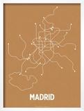 Madrid (Orange & Pearl White) Prints by  Line Posters