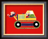 Cats in a Bulldozer Prints by Shelly Rasche