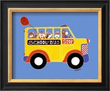 Animals on a Bus II Prints by Shelly Rasche