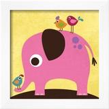 Elephant with Birds Prints by Nancy Lee