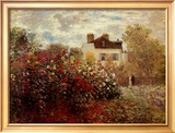 The Artist's Garden at Argenteuil Posters by Claude Monet