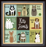 Kitty Family Prints by Jenn Ski