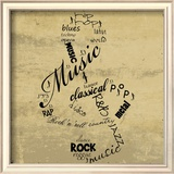 Music Note Posters by Anna Quach