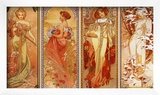 Les Saisons, 1900 Prints by Alphonse Mucha