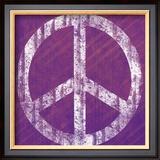 Purple Peace Prints by Louise Carey