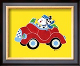 Dog in Car Prints by Shelly Rasche