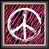 Zebra Peace Print by Louise Carey