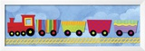 Rainbow Train Prints by Jane Davies