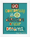 Go Confidently Prints by Helen Dardik