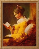 Young Girl Reading Posters by Jean-Honoré Fragonard