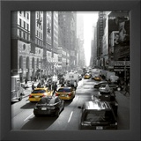 Sunset on Broadway, New York Prints by Dominique Obadia