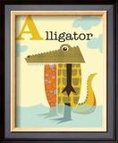Alligator Print by Jenn Ski