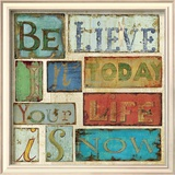 Believe and Hope I Print by Daphne Brissonnet