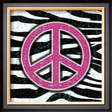 Zebra Peace Posters by Louise Carey