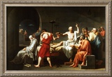 The Death of Socrates, c.1787 Art by Jacques-Louis David