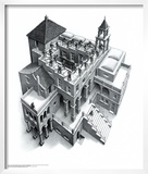 Ascending and Descending Prints by M. C. Escher