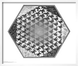 Verbum Print by M. C. Escher