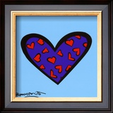 Blue About You Art by Romero Britto