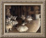 Dance Rehearsal, c.1874 Prints by Edgar Degas