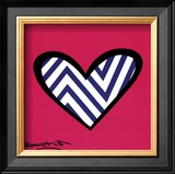 Zig Zag Love Poster by Romero Britto