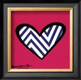 Zig Zag Love Poster by Romero Britto