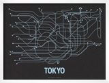 Tokyo (Black Licorice & Light Blue) Poster by  Line Posters