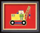 Cat in a Crane Prints by Shelly Rasche