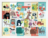 Animal ABC Prints by Jillian Phillips